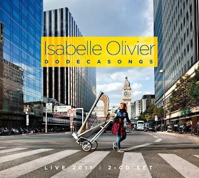Visuel du nouvel album d'Isabelle Olivier, Dodecasongs.
