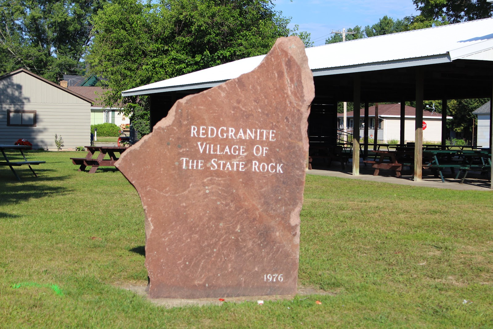 Wisconsin Red Granite Stone : Wisconsin historical markers redgranite village of the