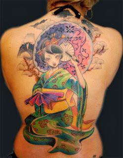 Sugestões de Tatuagens de Gueixa
