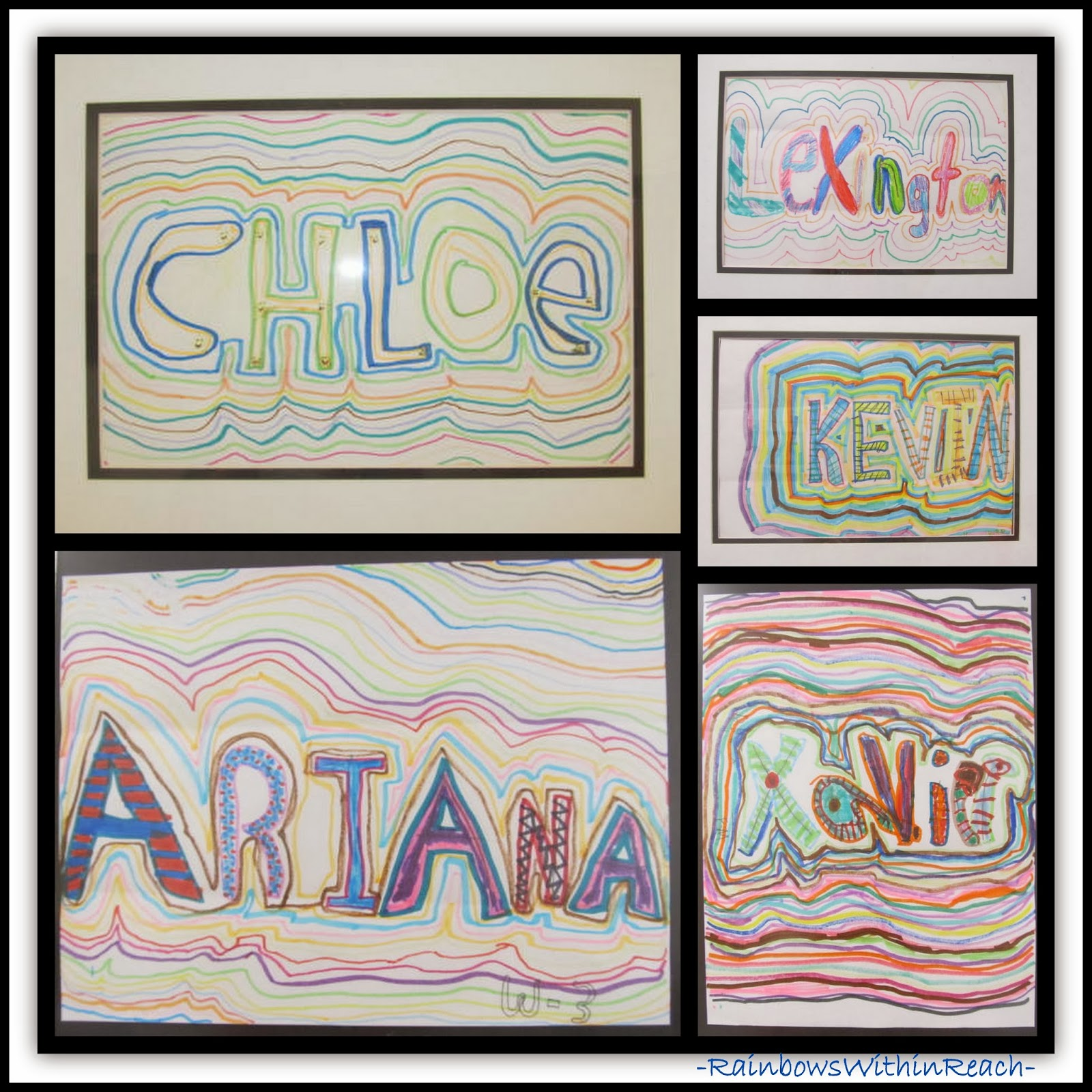 Using the Student's Name for Art Project