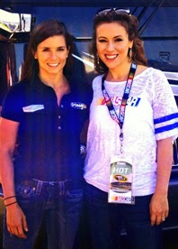 Danica Patrick and Alyssa Milano