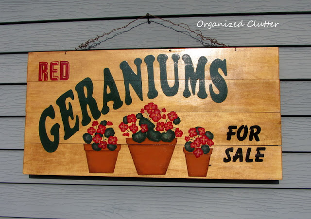 Geranium Garden Sign