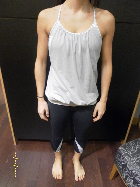 lululemon no limit tank silver spoon