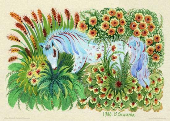 Petrykivka Paintings by Olena Skytsiuk from Ukraine