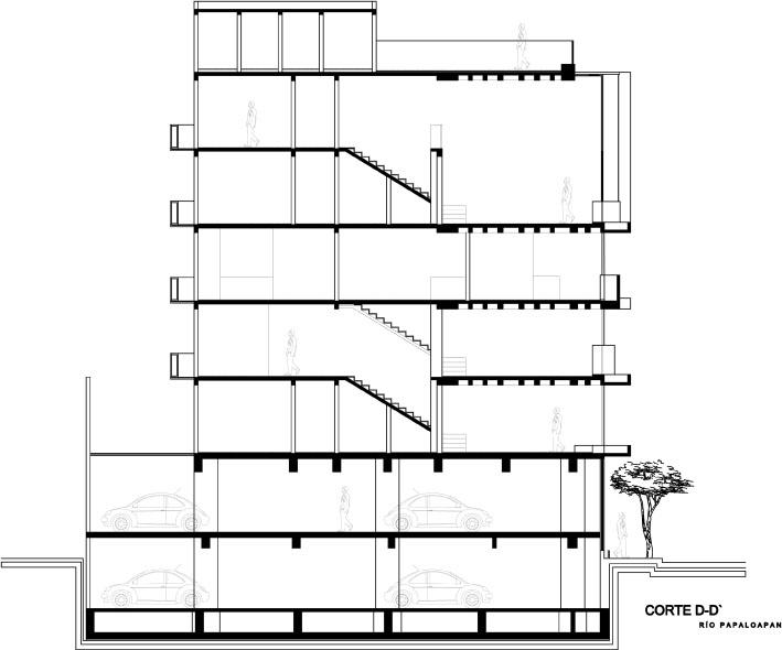 Blog d arquitectura planta alzado y secci n for Niveles en planos arquitectonicos