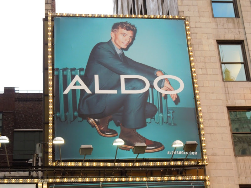Aldo Shoes Benjamin Eidem billboard NYC
