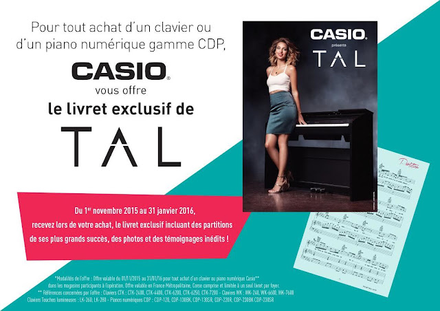 TAL & Casio Musique France : le livret exclusif !