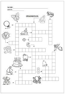 Cruzadinha - Atividade para alfabetização.
