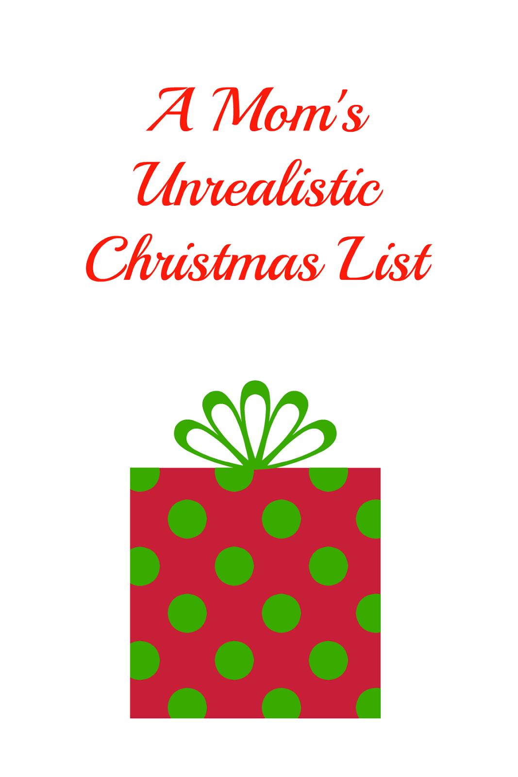 Moms christmas list