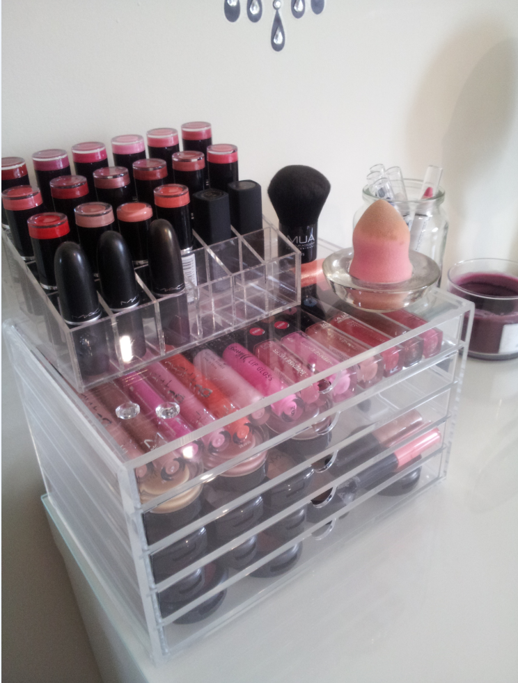 Beauty is in eye of the beholder my makeup collection Makeup drawer organizer ikea