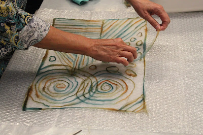 Pine Needle Felt sample workshop with Leiko Uchiyama at The Tin Thimble