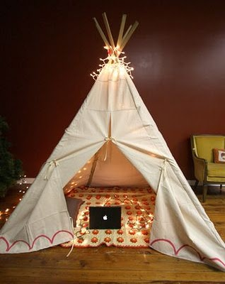 inspiration home indoor teepee pins needles fashion. Black Bedroom Furniture Sets. Home Design Ideas