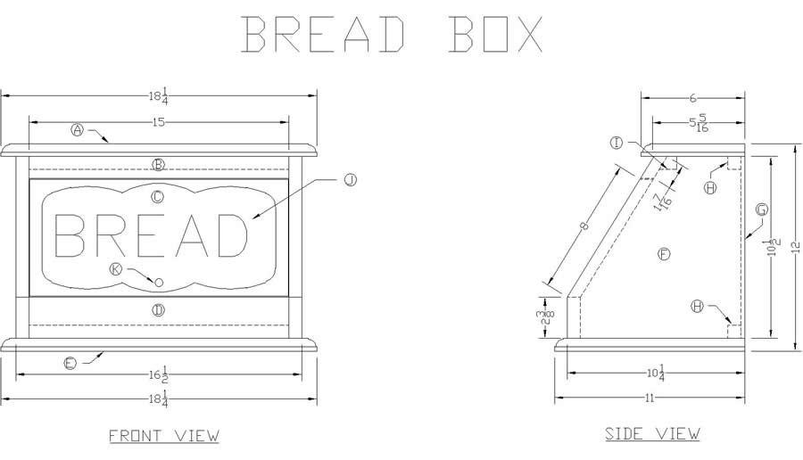 Размеры хлебницы из фанеры