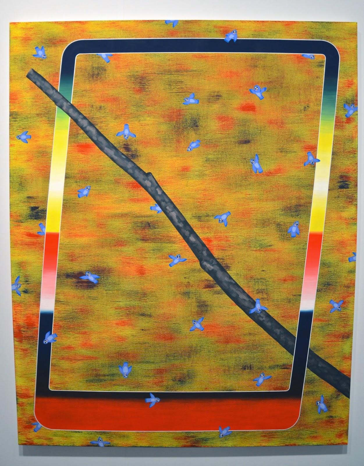 Henry Gunderson Swarm Behavior 2014 Flashe And Acrylic