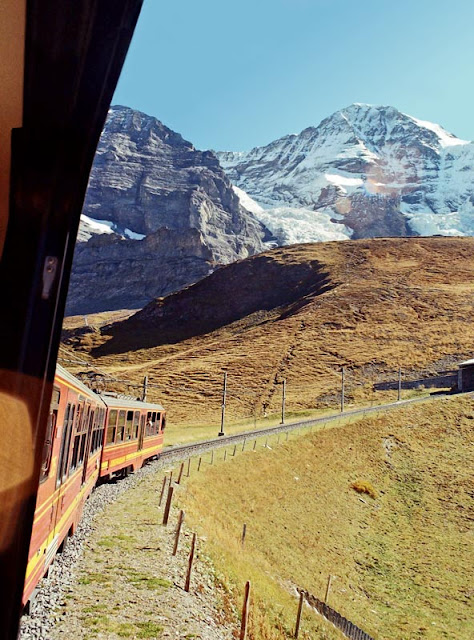 Train to Jungfraujoch in Switzerland