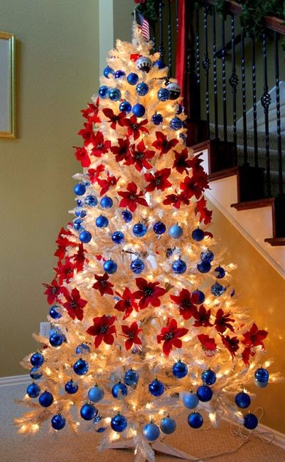 confessions of a holiday junkie christmas in july day 3 patriotic christmas trees on a budget
