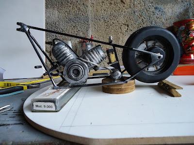 Motor de Moto Miniatura