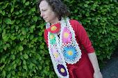 pattern flower scarf