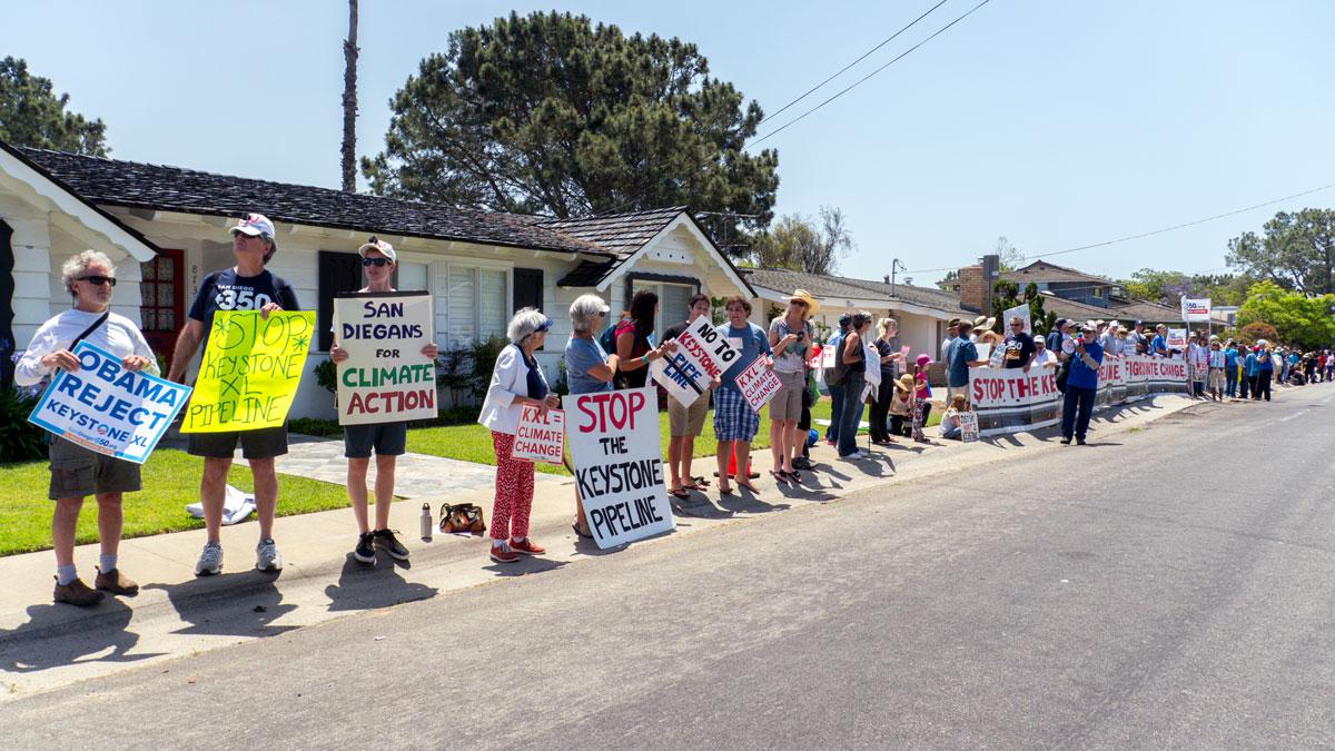 Protesting Obama In La Jolla, San Diego