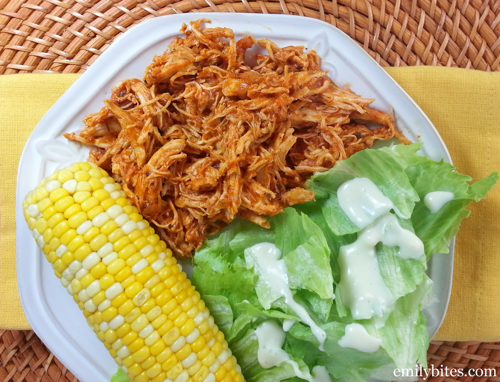 Shredded Mexican Chicken - Emily Bites