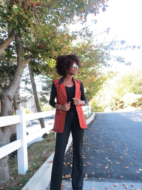 Ankara Sleeveless Blazer