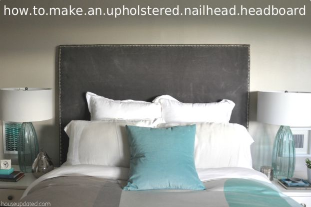 Upholstered Headboard from IKEA Curtain