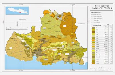 Peta Geologi Kabupaten Pacitan