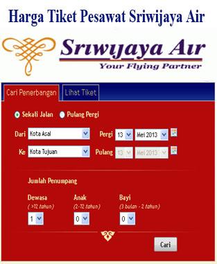Harga tiket pesawat Sriwijaya Air bisa anda lihat di situs resmi http
