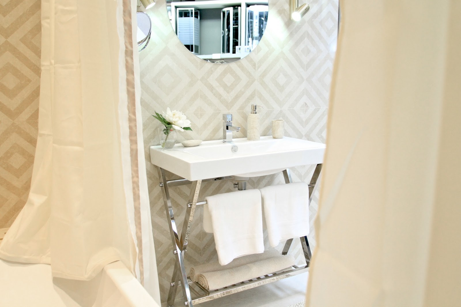 Home styling ana antunes bathroom showroom by ana antunes at leroy