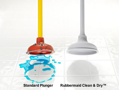 plunger that comes out of toilet use with no water or other mess