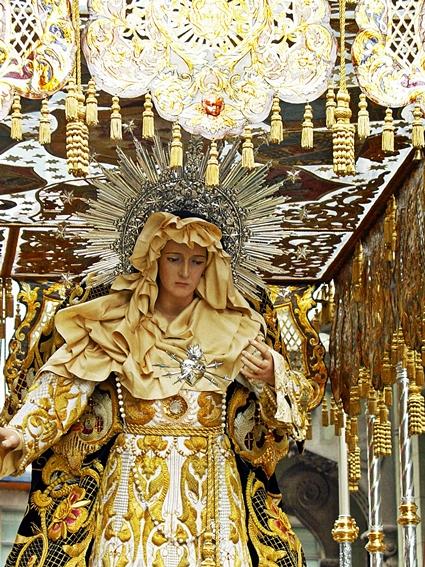 """Madre Dolorosa. La """"Pena Bonita"""" de la cofradía del Dulce Nombre de Jesús Nazareno. León. Foto. A. Márquez."""