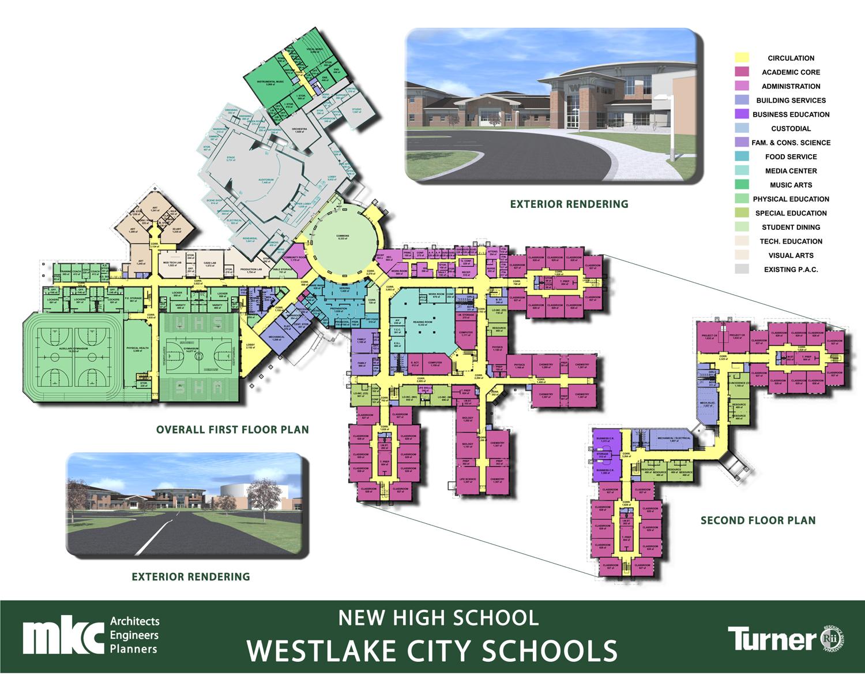 Updated renderings floor plan boards westlake schools for Westlake floor plan