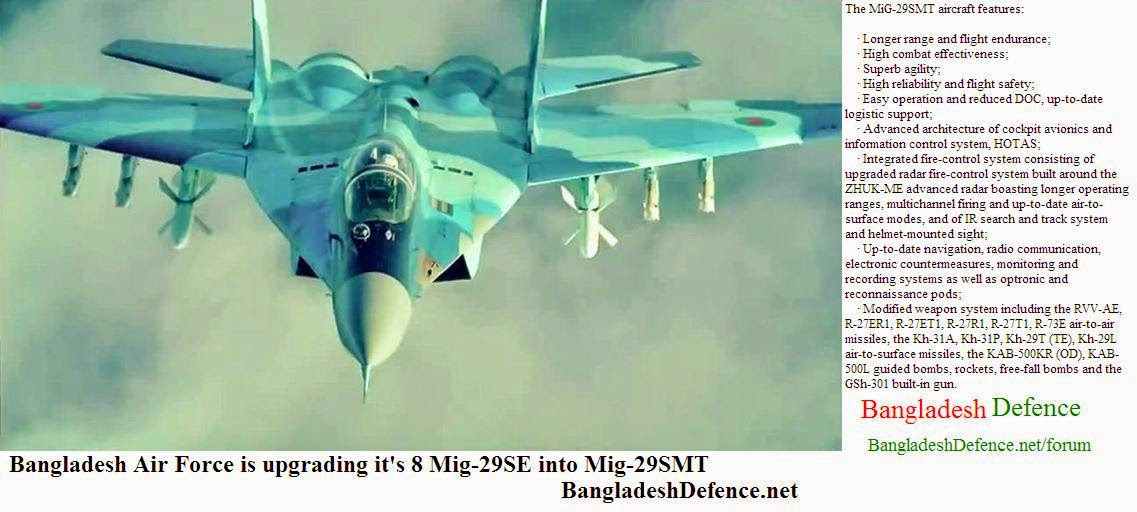 Bangladesh Air Force upgrading Mig-29 into Mig-29SMT