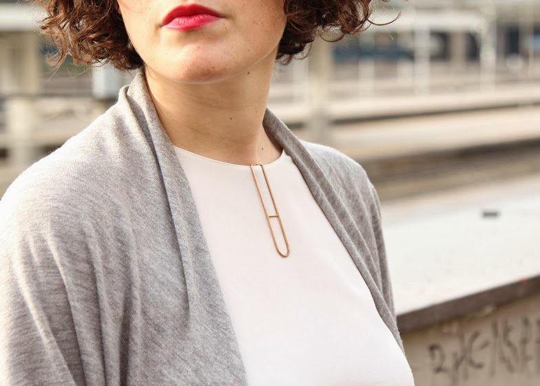 geometric design 3D printed clip on jewelry