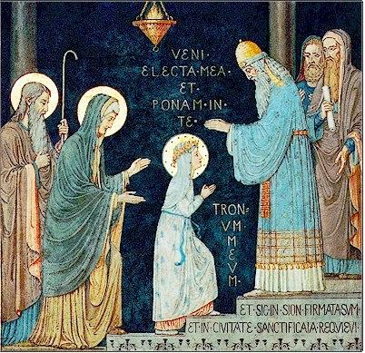Dia 21 de novembro - Dia da apresentação de Maria no Templo.
