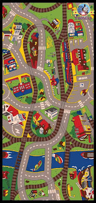 Thomas train and friends bedroom ride the train rug carpet play mat nursery furniture for playrooms