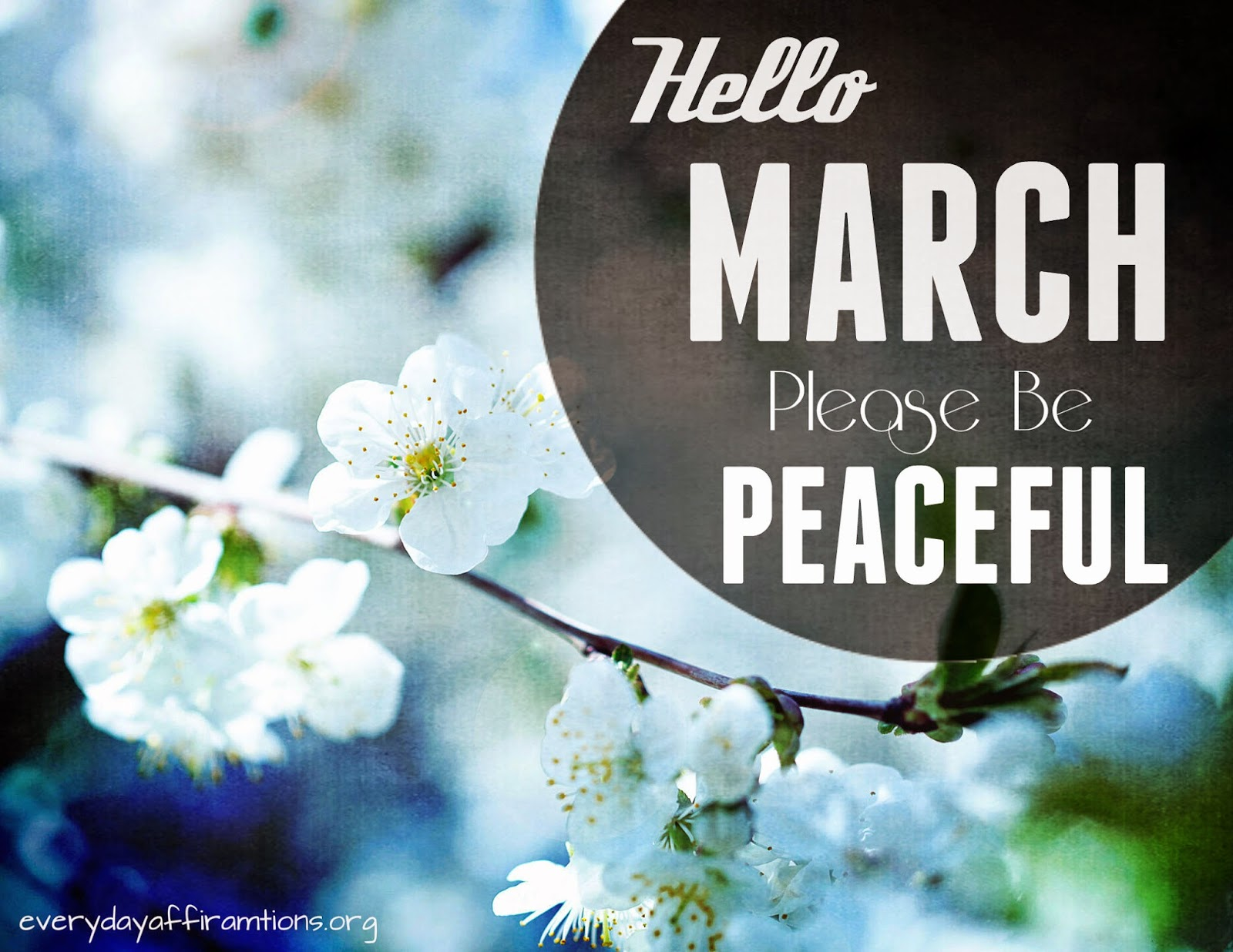 Download March Affirmation Wallpaper