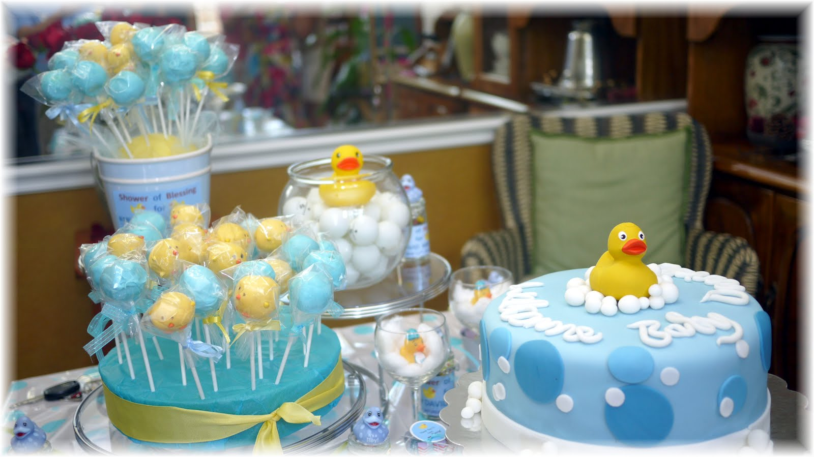 ducky themed baby shower decorations
