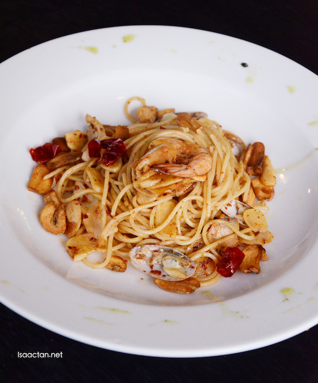 Yummy pasta dishes at Pholio Cafe