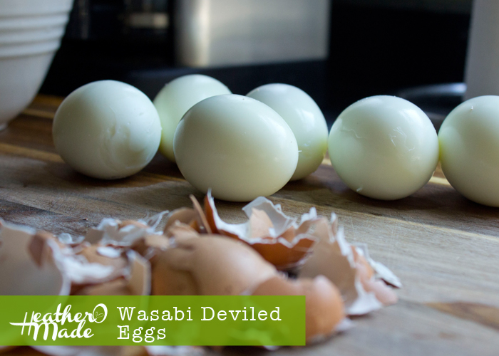 wasabi deviled eggs. recipe.