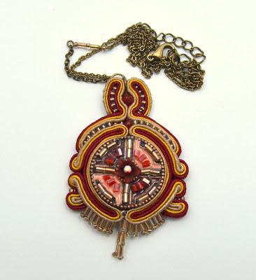 sutasz naszyjnik wisior soutache pendant necklace 3