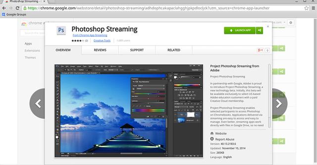 Sử dụng Photoshop trên trình duyệt Chrome