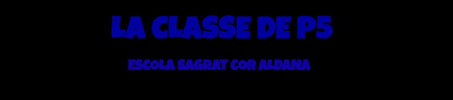 LA CLASSE DE P5 DE L'ESCOLA SAGRAT COR D'ALDANA