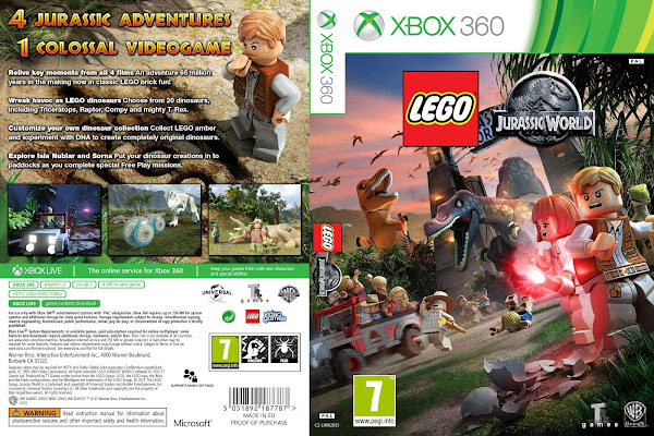 Capa LEGO Jurassic World Xbox 360