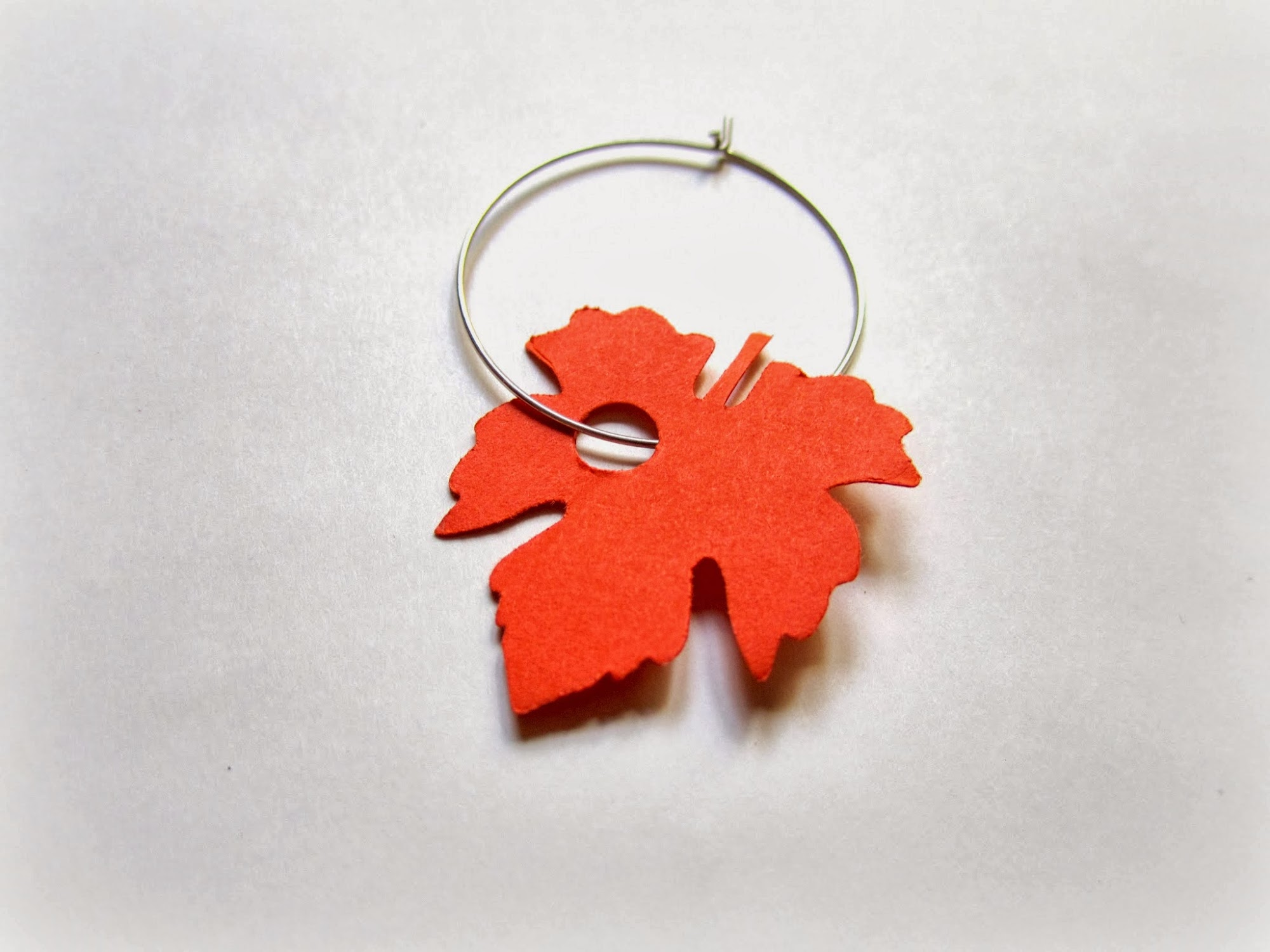 fall wine glass tag