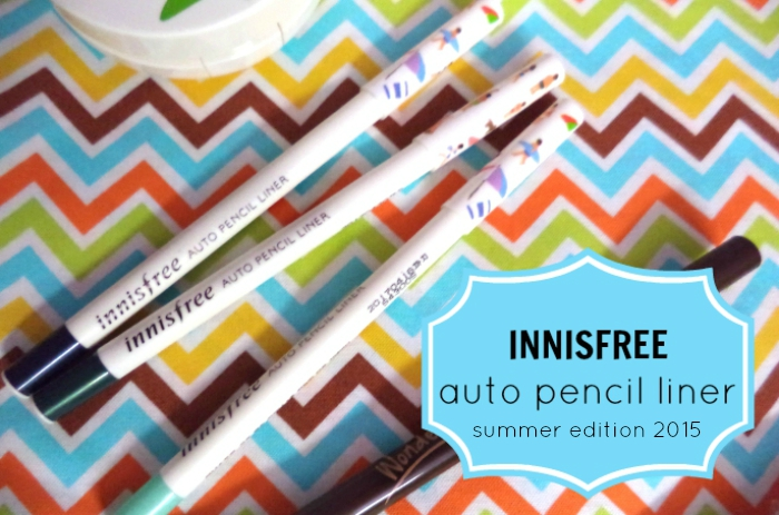 FIRST IMPRESSIONS | Innisfree Summer 2015 Limited Edition Auto Pencil Liner & Glow Liquid Shadow summer 2015 review and swatches