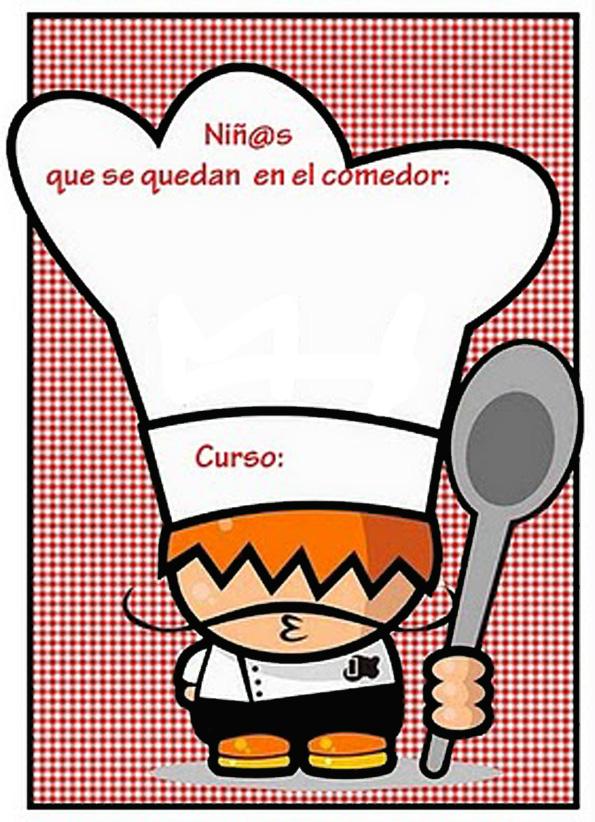 Recursos de educaci n infantil carteles de comedor escolar for Dibujo de comedor escolar