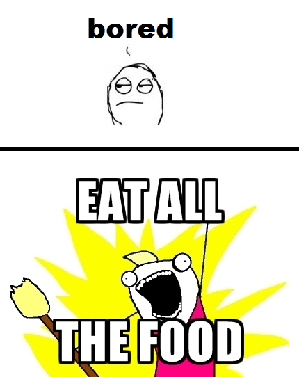 Whenever I'm Bored - Eat All The Food
