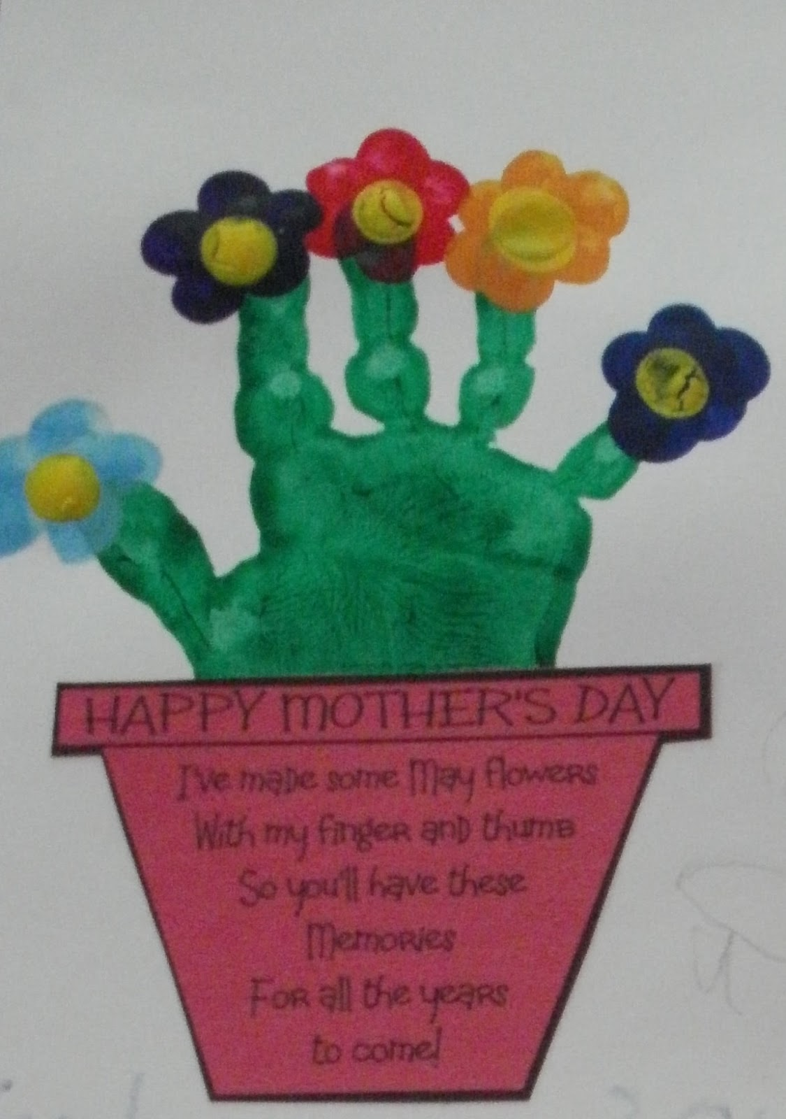 Little Stars Learning: Hand Print Flower Bouquet with Printable