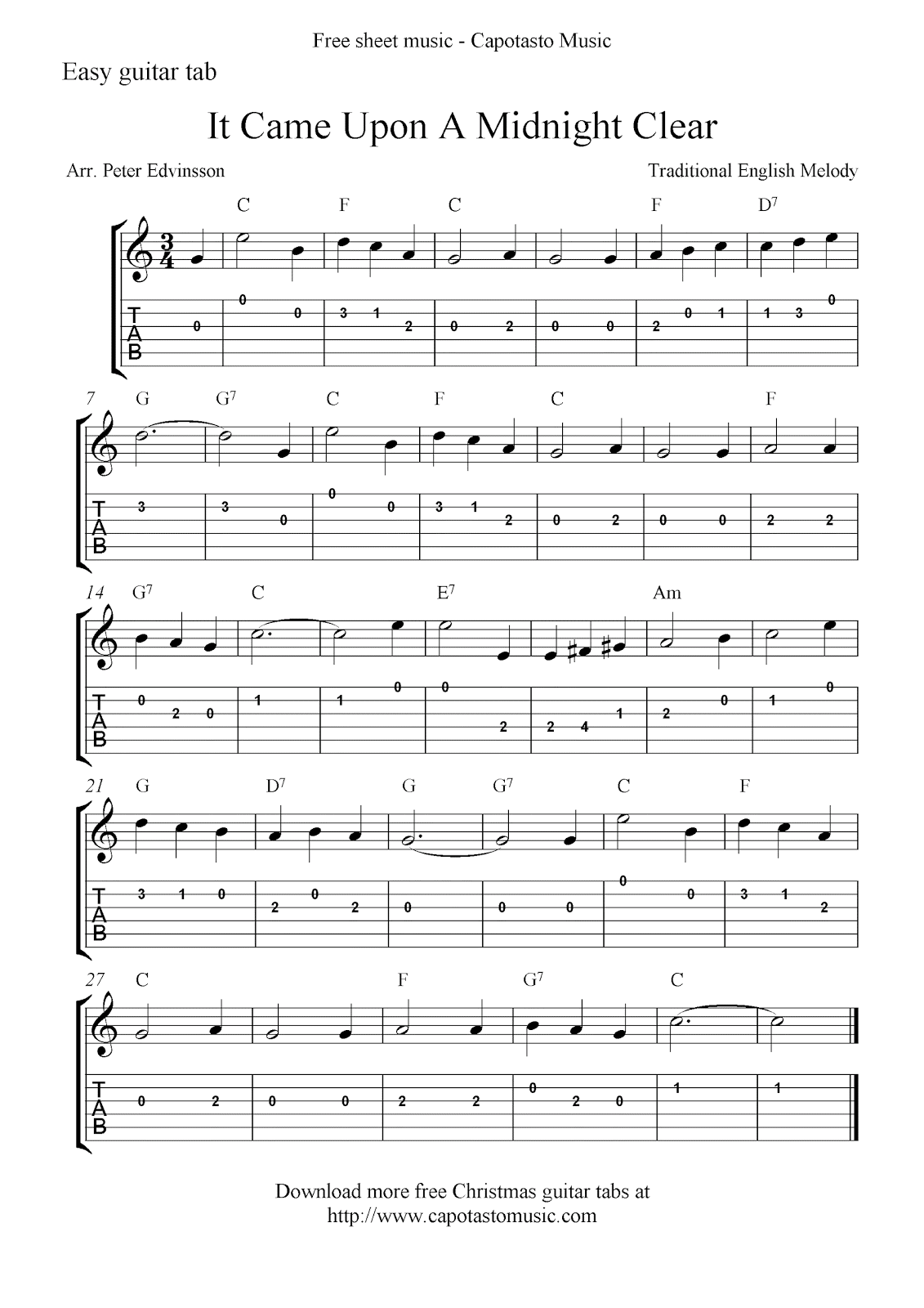 Christmas Sheet Music Sheet music and tabs